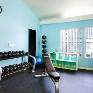 Fitness center featuring modern exercise equipment