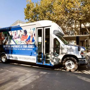 Community shuttle to & from campus